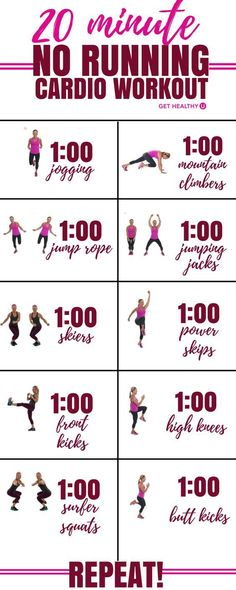 Check out this 20-minute high-intensity calorie burning cardio workout that involves NO running! Win-win! Torch calories and burn fat with this high energy HIIT style workout. (Quick Diet)