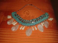 Collana imperial #handmade#necklace#stone#chain#blue#white
