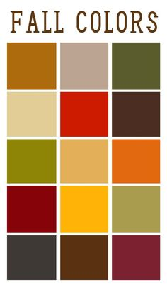 Fall Color Palette! My two wedding colours on here. :) perfect for my fall wedding!