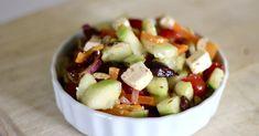 My Big Fat Greek Salad Mediterranean Dishes, Mediterranean Diet Recipes, Salad Bar, Soup And Salad, Jar Salad, Sin Gluten, Cooking Recipes, Healthy Recipes, Keto Recipes