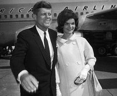 JFK and beautifully pregnant Jackie Kennedy.