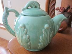 Antique redwing tea pot