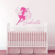 Wall Decals Custom Personalized Name Magical Fairy Stars Princess Bedroom Gift Kids Children Dorm Vinyl Sticker Wall Decor Murals Decal Nursery: Amazon.co.uk: Kitchen & Home