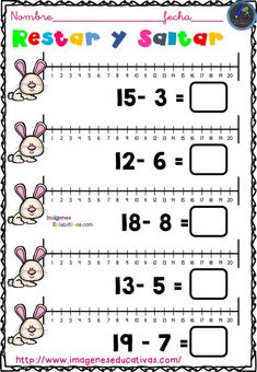 Math Addition Worksheets, First Grade Math Worksheets, Subtraction Worksheets, 1st Grade Math, Kindergarten Worksheets, Math Activities, Learning Spanish For Kids, Learning Time, Math For Kids