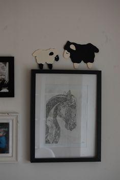 Påskeklip af får. Doodle tegning af hest efter inspiration herinde fra..