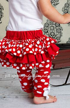 Red and white polka dot bloomers diaper cover for baby by amwoo254, $32.00