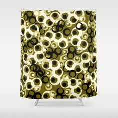 Crazy Circle Pattern 4 Shower Curtain