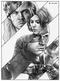 The Avengers by iamjoanna on DeviantArt inch charcoal drawing on vellum Bristol paper of Robin Williams. Get it at The Avengers by iamjoanna on DeviantArt inch charcoal drawing on vellum Bristol paper of Robin Williams. Poster Marvel, Marvel Comics Art, The Avengers, Pencil Drawings, Art Drawings, Contour Drawings, Charcoal Drawings, Drawing Faces, Avengers Painting