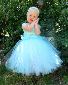 Cinderella Tutu Dress Newborn- 2T. $25.00, via Etsy.
