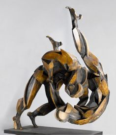 Sophie Dickens life size judo sculpture 'Morote Seoinage'