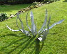 Modular Agave sculpture by Iron Vein steel sculpture