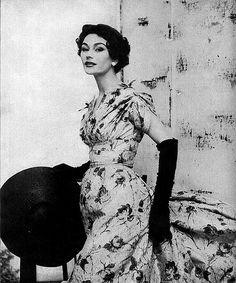 Wearing Jacques Fath, Vogue 1950