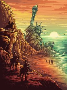 """Dan Mumford """"Beware the beast Man, for he is the Devil's paw.- Dan Mumford """"Beware the beast Man, for he is the Devil's pawn."""" Print Dan Mumford """"Beware the beast Man, for he is the Devil& pawn. Fiction Movies, Sci Fi Movies, Science Fiction, Arte Horror, Horror Art, Pierre Boulle, Dan Mumford, Planet Of The Apes, Alternative Movie Posters"""