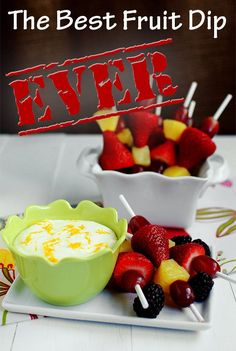 The Best Fruit Dip EVER - just 3 ingredients! #snack #dip @IowaGirlEats | iowagirleats.com