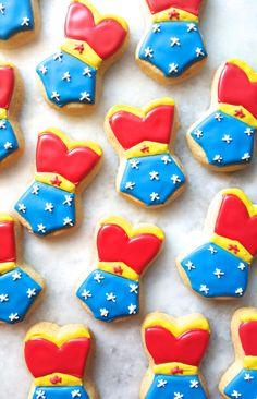 Wonder Woman Corset Sugar Cookies by MerciBakery on Etsy