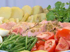 Roasted Salmon Nicoise Platter