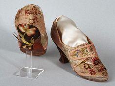 Shoes, 1750-1770, Musée du Costume et de la Dentelle, Bruxelles