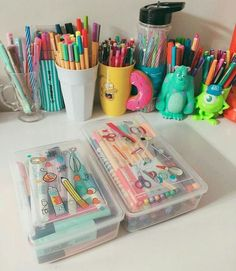 Stationary for school, cute stationary, stationary supplies, cute school su College School Supplies, School Supplies Organization, Cute School Supplies, Desk Organization, Stationary Store, Stationary Supplies, Cute Stationary, Art Supplies, Planner Supplies