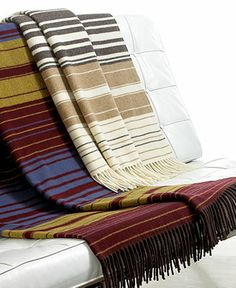 Pendleton Blankets, 5th Avenue Fringed Wool Throw - Blankets & Throws - Bed & Bath - Macy's