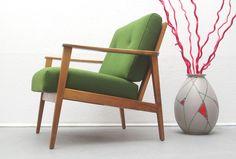 60er Armchair in Grün, neu bezogen von silent-cube auf DaWanda.com