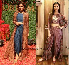 Dhoti Sarees Sangeet Outfits blouse designs