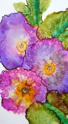 Alcohol Ink Art Print by Maure Bausch. $12.50, via Etsy.
