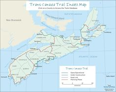Trail Index Map for Nova Scotia