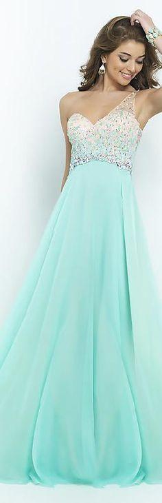 Embellished Chiffon Lilac Princess One-Shoulder Natural Prom Dress In Stock dadadresses16006rtyh #longdress #promdress