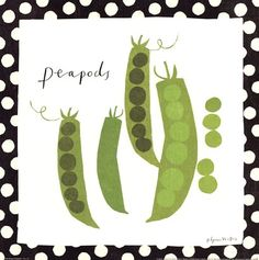 Simple Peapods Fine-Art Print by Susy Pilgrim Waters at UrbanLoftArt.com