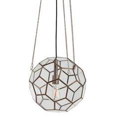 Arteriors Beck Brass/Glass Faceted Pendant | My @zinc_door Wishlist | Interior Designer Grant Gibson #zincdoor #wishlist