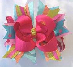 girls hair bows gorgeous hair accessories for teens unique and funky . Funky Hairstyles, Elegant Hairstyles, Girl Hair Bows, Girls Bows, How To Make Hair, How To Make Bows, Hair Bow Tutorial, Making Hair Bows, Bow Making