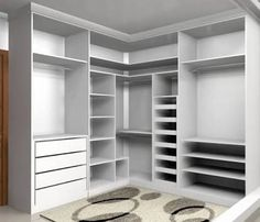 Take advantage of height in a walk-in closet design Corner Wardrobe Closet, Wardrobe Design Bedroom, Master Bedroom Closet, Bedroom Wardrobe, Closet Space, Master Bedrooms, Bedroom Cupboard Designs, Bedroom Cupboards, Walk In Closet Design