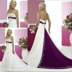 Two Tone Love The Colors Colored Wedding Dresses Purple Gown