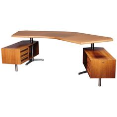 Osvaldo Borsani T 96 Boomerang Desk | From a unique collection of antique and modern desks at http://www.1stdibs.com/furniture/storage-case-pieces/desks/