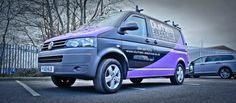 VW transporter T4 with custom vehicle livery by Wrap Monkey