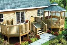 modular home deck | Modular Gazebo Picnic Deck - Project Plan 90035