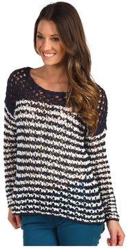 Lucky Brand - Ester Striped Sweater (Blue Multi) - Apparel on shopstyle.com