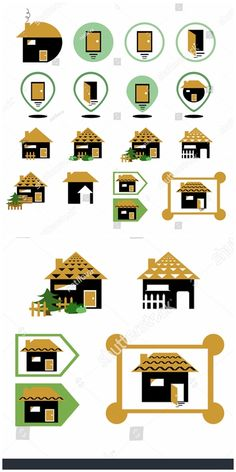 Set of different Graphic Design Illustration, Illustration Art, Illustrations, Home Icon, New Pictures, Royalty Free Photos, Different, Icons, Holiday Decor