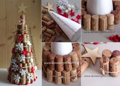 Cork Crafts, Xmas Crafts, Crafts For Kids, Christmas In July, Rustic Christmas, Diy Crafts Step By Step, Kegel, Celebration Quotes, Upcycled Crafts