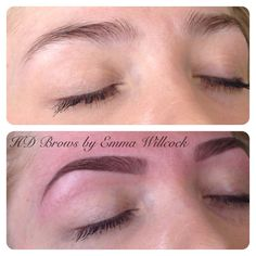 HD Brows by MASTER Stylist Emma Willcock. Before & after. Minimal make-up used.