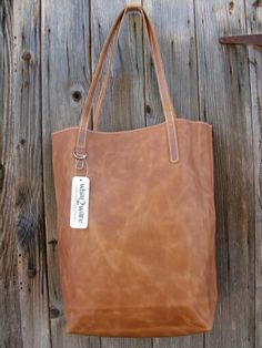 Cognac Leather Tote by w2ware on Etsy https://www.etsy.com/au/listing/258430775/cognac-leather-tote