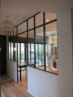 67 Super Ideas For Internal Glass Door Glass Room Divider, Room Doors, Steel Doors, Glass Door, Glass Walls, My Dream Home, Home Kitchens, Small Spaces, Sweet Home