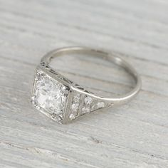 1.40 Carat Vintage Art Deco Engagement Ring | Erstwhile Jewelry Co.