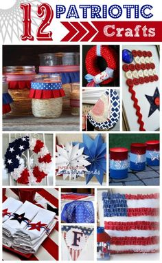 I love to craft especially in the Summer when things sort of get a little hum-drum. The 4th of July is a perfect time to craft to show your patriotic spirit. I've gathered 12 4th of July craft ideas, so I thought it would be fun to share my favorites with you! {Please pin the...