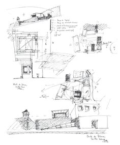 João Álvaro Rocha. Boceto - Puesto de Turismo. Ponte de Lima, Portugal Conceptual Sketches, Drawing Sketches, Sketching, Drawings, Drafting Drawing, Single Line Drawing, Arch Architecture, Urban Sketchers, Design Process