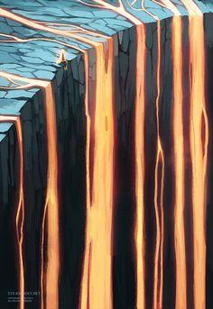 Lava Cliffs by Loika