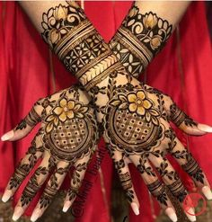 94 Easy Mehndi Designs For Your Gorgeous Henna Look Dulhan Mehndi Designs, Mehandi Designs, Engagement Mehndi Designs, Latest Bridal Mehndi Designs, Mehndi Designs For Girls, Modern Mehndi Designs, Wedding Mehndi Designs, Latest Mehndi Designs, Tattoo Designs