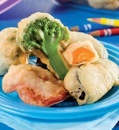 Tempura de verduras #receta #vegetariana