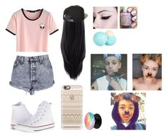 """""""Making a video with them"""" by jasmine-the-basic-penguin ❤ liked on Polyvore featuring The Cassette Society, Casetify, Converse, Brixton and River Island"""