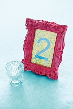 Love these frames for Table numbers! Easy to make too!